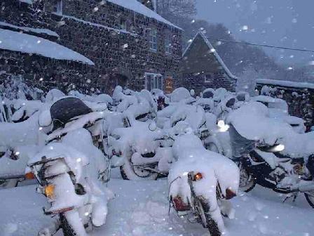 Winterstalling foto